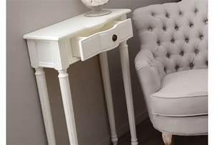 Console D Entrée Blanche : console entr e blanche 60 cm ou meuble entr e blanc avec tiroir ~ Voncanada.com Idées de Décoration