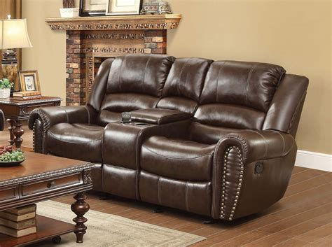 double seat reclining sofa homelegance center hill double glider reclining love seat