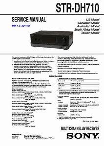 Sony Str-dh710 Service Manual