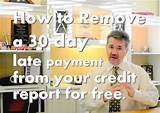Late Payment Credit Score Remove