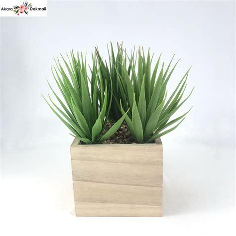 ใบไม้ปลอม(เฉพาะหัวไม่รวมกระถาง) ตกแต่ง Succulent head พืช ...