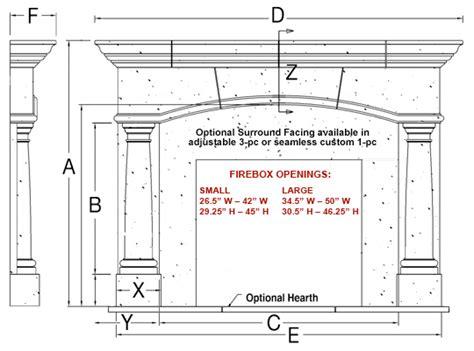 fireplace firebox dimensions barrington classic stone fireplace mantel mantelsdirect com
