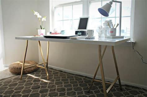 ikea desk legs hack my style republic ikea hack white table top with gold legs