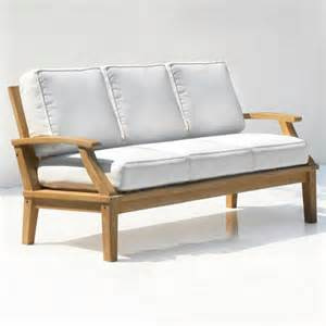 st barts seating teak outdoor sofa with cushions outdoor
