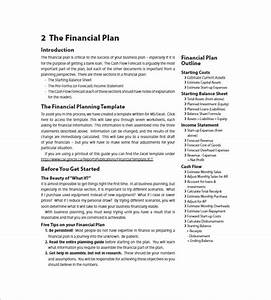 Financial business plan template 14 free word excel for Business plan template for financial advisors