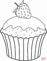 Muffin Coloring Pages Strawberry Muffins Cup Cupcake Drawing Cakes Cupcakes Printable Sheet Erdbeere Ausmalbild Mit Print Template Neocoloring Azcoloring Supercoloring sketch template