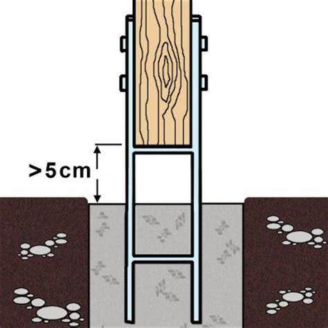 h anker wie tief einbetonieren gah h pfostentr 228 ger 161 mm gabelweite feuerverzinkt