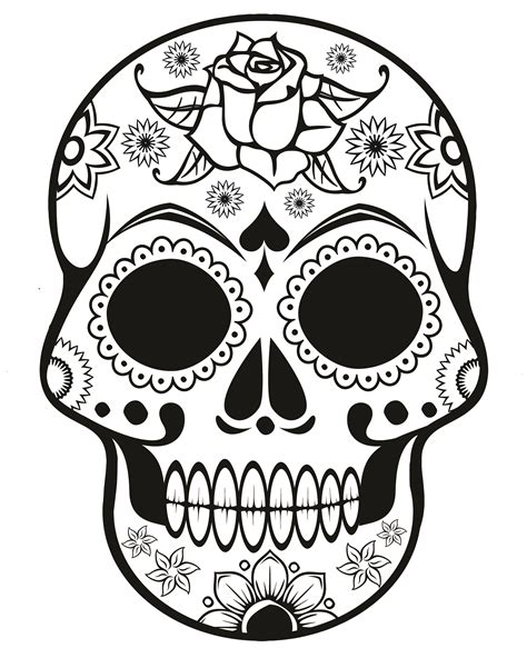 Sugar Skull Coloring Page Az Coloring Pages Quilt