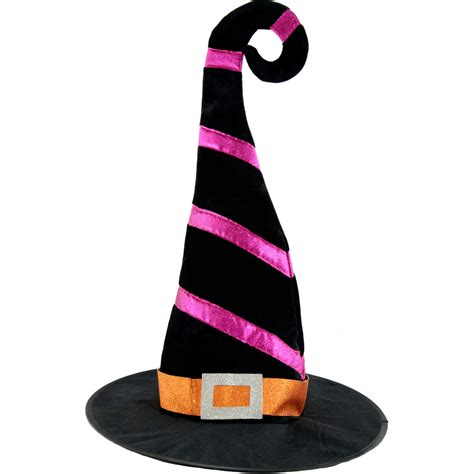 velvet witch hat 25 quot striped velvet witch hat black 3114 695 craftoutlet com
