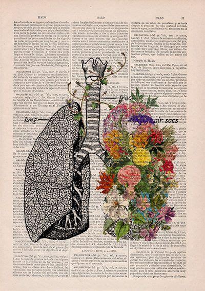 Springtime Breathe Decorative Art Lungs With Flowersnature