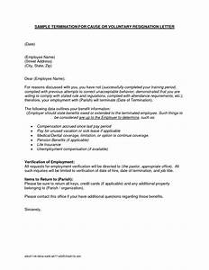 Separation Letter To Employee Template Examples