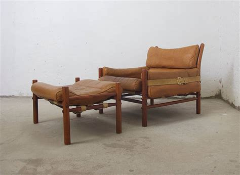easy chairs with ottomans arne norell kontiki easy chair with ottoman at 1stdibs