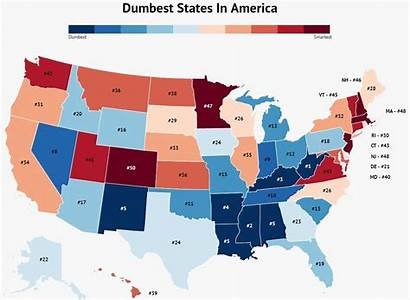 States Rankings Dumbest Map Diverse Roadsnacks Graph