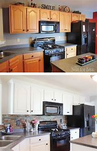 kitchen cabinet makeover reveal how to nest for lesstm With kitchen colors with white cabinets with give a girl the right shoes wall art