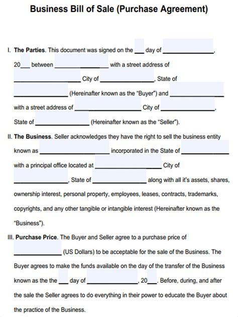 18090 business bill of form 6 business bill of form sle free sle