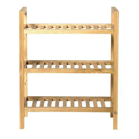 hallowood furniture new waverly 3 tier narrow shoe rack