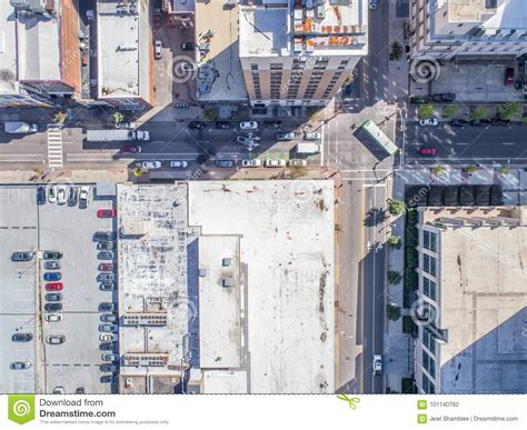 aerial drone bird s eye view of city of raleigh nc