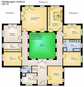 Atrium Bungalow Grundrisse : atrium 182 33 winkelbungalow einfamilienhaus neubau massivhaus stein auf stein ~ Bigdaddyawards.com Haus und Dekorationen