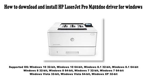 I need hp laserjet m402n drivers for my windows 10 machine, could anybody help me to find out the driver's links for me? How to download and install HP LaserJet Pro M402dne driver Windows 10, 8 1, 8, 7, Vista, XP ...