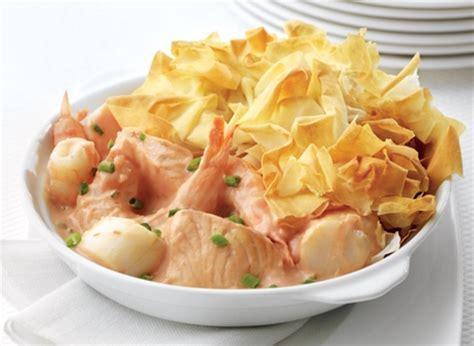 p 226 t 233 aux fruits de mer en p 226 te phyllo recette plaisirs laitiers