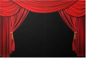 Rideau Rouge Et Noir : poster lumineux rouge sc ne th tre rideau drap sur fond noir pixers nous vivons pour changer ~ Teatrodelosmanantiales.com Idées de Décoration