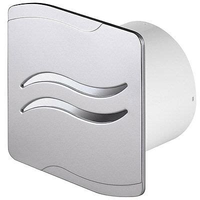 Silver Bathroom Extractor Fan With Pull Cord