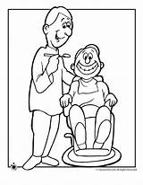 Coloring Pages Dentist Dentists Printables Activities Special Woo Jr sketch template