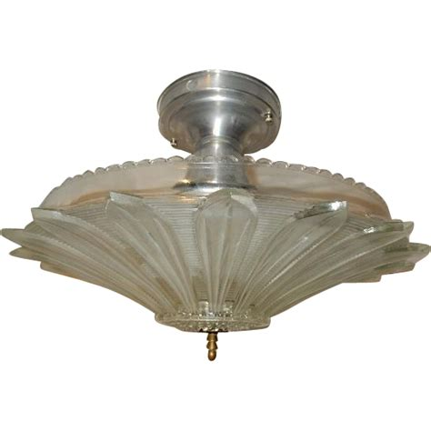 deco flush mount ceiling light fixture w original