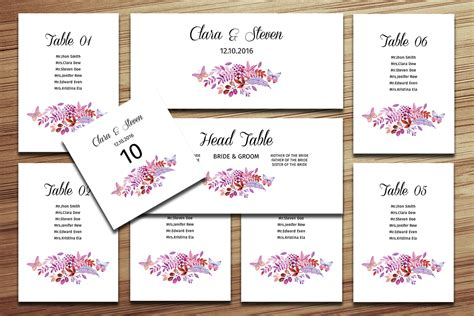 Wedding Table List Template by Wedding Seating Chart Template On Behance