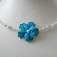 bracelet bijou fleur satin vert anis blanc aluminium With robe ceremonie avec bijoux mariage perle pas cher