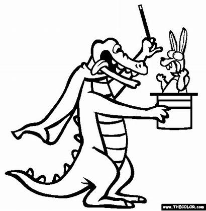 Magician Coloring Pages Croc Designlooter Popular Thecolor