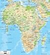 Physical Map of Africa - Ezilon Maps