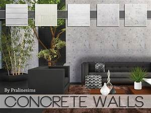 The Sims Resource Concrete Walls By PralineSims Sims 4