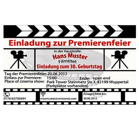 kino einladungskarten zum ausdrucken einladung