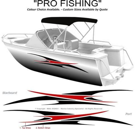Boat Fishing Stickers Australia by Find Boat Graphics Decal Sticker Kit Quot Pro Fishing 1800