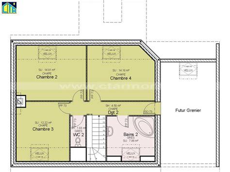plan maison etage 4 chambres plan de maison 4 chambres avec etage