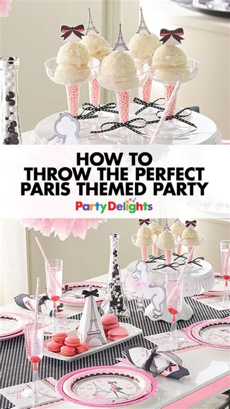 ideas  parisian birthday party  pinterest