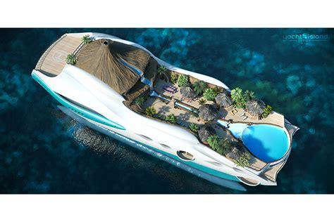 Concept Tropical Island Paradise Superyacht Has A Volcano