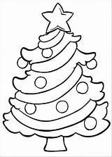 Christmas Tree Coloring Colouring Pages Printable Easy Wallpapers9 Ornaments sketch template