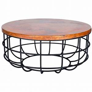 pictured here is the axel coffee table with wrought iron With round hammered metal coffee table