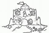 Sand Coloring Castle Clamshell Drawing Clam Shell Castles Clip Template Colouring Printable Colour Printables Getdrawings Luxury Wuppsy sketch template