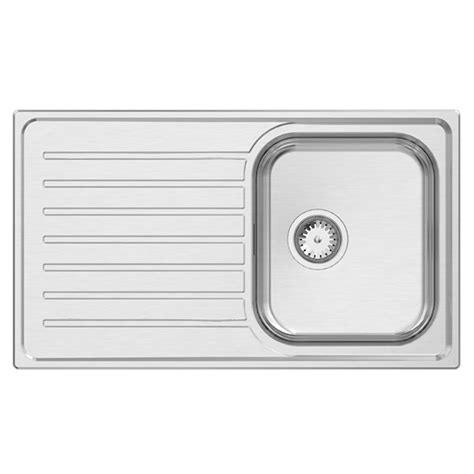 single bowl kitchen sink with drainer euronox single bowl drainer spectra selection centre 9306