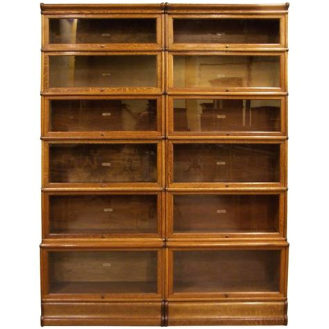 barrister bookcase for sale globe wernicke bookcase oak for sale at 1stdibs