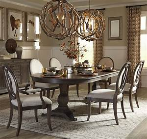 7 Piece Double Pedestal Dining Table Set By ART