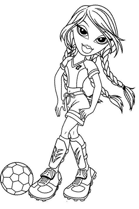 Kleurplaat Jade by Bratz Jade Football Coloring Pages Bratz