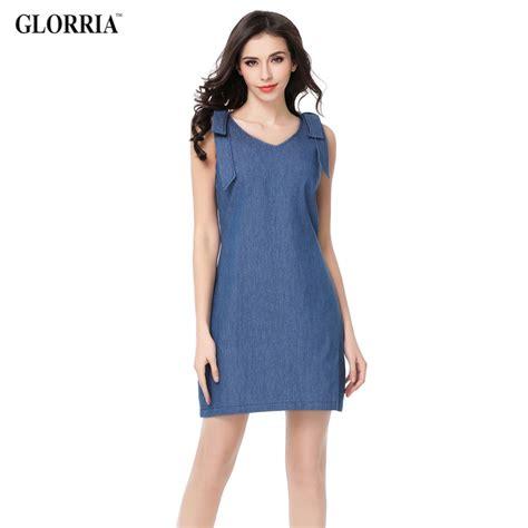 a line denim dress glorria denim v neck shoulder sleeveless dress
