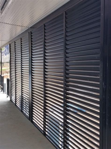 privacy screen louvers fixed welded louvers fixed frame eco awnings