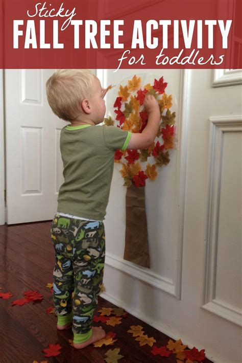 toddler approved easy fall tree activity  toddlers
