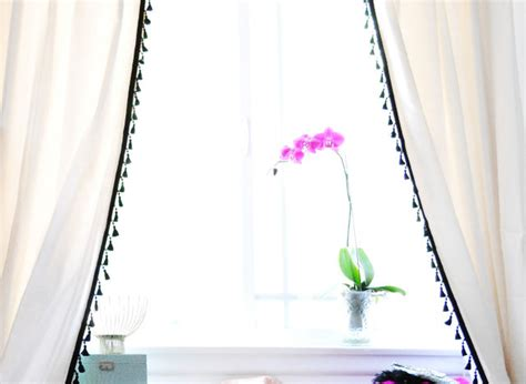 craft of the day turn plain curtains into something