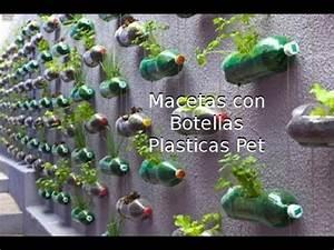 Reciclaje de Botellas Plásticas PET, Manualidades: Maceta YouTube